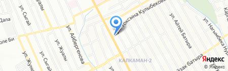 Автосервис на ул. Ауэзова на карте Алматы
