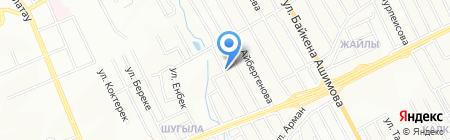 Жалгас на карте Алматы