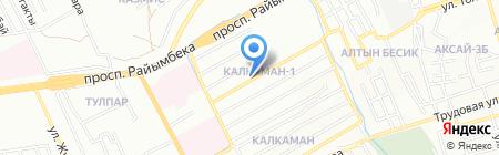 Жанбота на карте Алматы