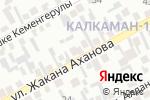 Схема проезда до компании Жанбота, продуктовый магазин в Алматы