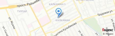 Бикош на карте Алматы