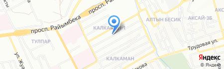Акжан на карте Алматы