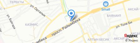 АЗС Бастау на карте Алматы