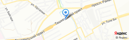 Корона на карте Алматы
