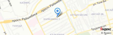 Нур-Ай на карте Алматы