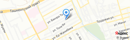 Продуктовый магазин на ул. Сагатова на карте Алматы