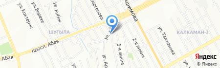 Складской комплекс на карте Алматы