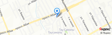 Елдос на карте Алматы
