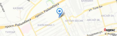 Магазин продуктов питания на ул. Аханова на карте Алматы