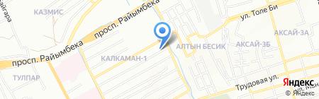 Багдаулет на карте Алматы
