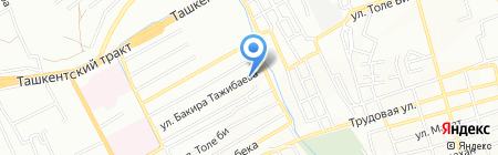 Акерке на карте Алматы