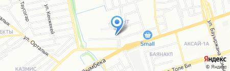 Нотариус Карбузова Г.М. на карте Алматы