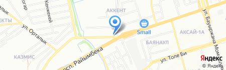 Акжайык на карте Алматы