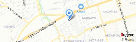 Автошины на карте Алматы