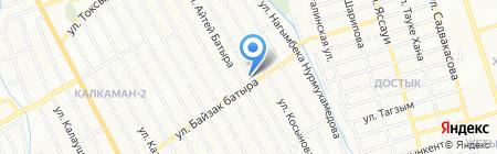 Расул продовольственный магазин на карте Алматы