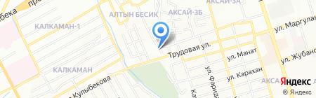 Продуктовый магазин на ул. МТФ 3 на карте Алматы