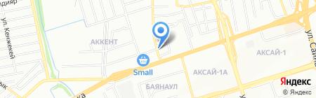 Гостиница на ул. Сухамбаева на карте Алматы