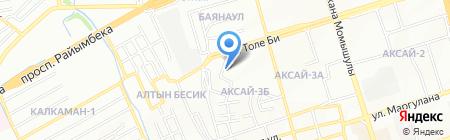 Кокетка на карте Алматы