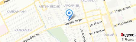 Парикмахерская на Каргалинской на карте Алматы