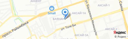 Максим на карте Алматы