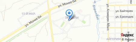 Алгабас на карте Алматы