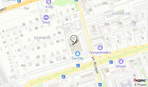Лига Мастер Авто. Схема проезда в Алматы
