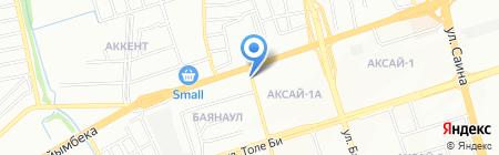 Шиномонтажная мастерская на ул. Яссауи на карте Алматы