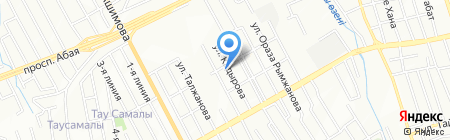 Кулыншак на карте Алматы