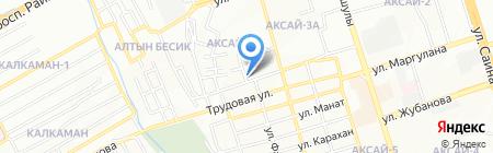 Автосервис на Ташкентской на карте Алматы