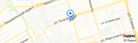 Аяла на карте Алматы