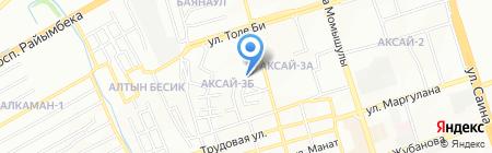 Шиномонтажная мастерская на ул. Аксай 3Б микрорайон на карте Алматы