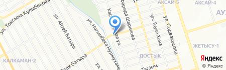 Жагистай на карте Алматы