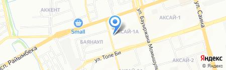 Улан продовольственный магазин на карте Алматы