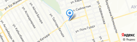 Тандырхана на карте Алматы
