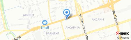Шиномонтажная мастерская на ул. Аксай 1а микрорайон на карте Алматы