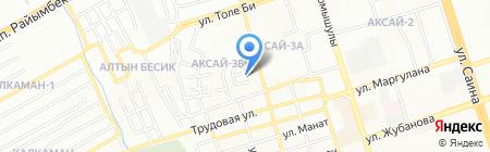 Еркежан на карте Алматы