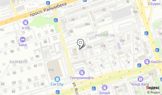 Akbozat. Схема проезда в Алматы