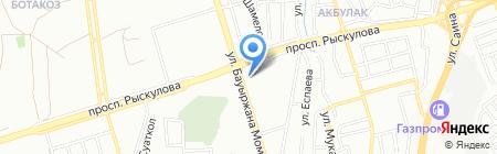 Сатти на карте Алматы