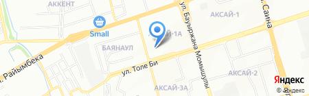 Асланали на карте Алматы