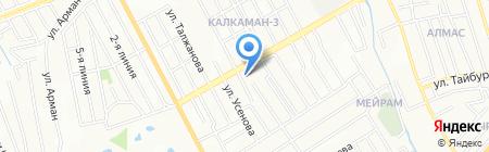 Школа-гимназия №176 на карте Алматы