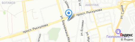 Береке продовольственный магазин на карте Алматы
