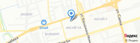 Ак-Булак на карте Алматы