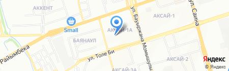 Агысай на карте Алматы