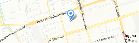 Ак Барыс на карте Алматы