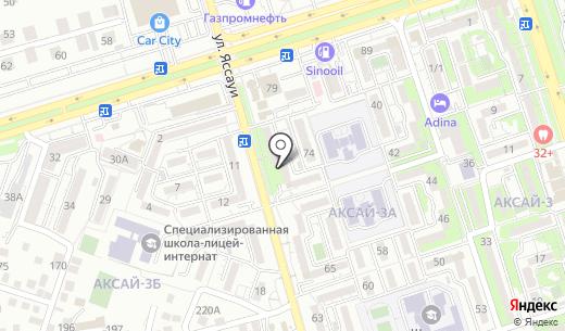 Ням Ням. Схема проезда в Алматы