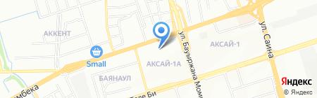 Берекели на карте Алматы