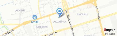 Мастерская по ремонту обуви на ул. Аксай 1а микрорайон на карте Алматы