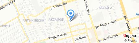 Эльдана на карте Алматы