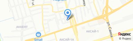 Лагманхана на ул. АЗТМ на карте Алматы