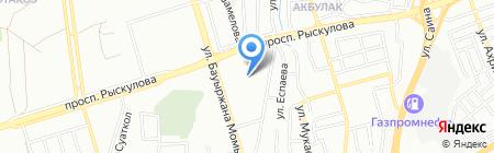 Продуктовый магазин на ул. Чуланова на карте Алматы